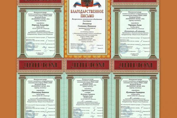 Дипломы скрипачей ДМШ№2
